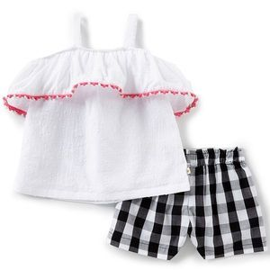 NWT Kate Spade Toddler Gingham Short Set